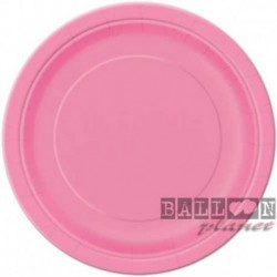 16 Piatti Tondi Carta Rosa Hot 23 cm
