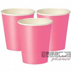 14 Bicchieri Carta Rosa Hot 266 ml