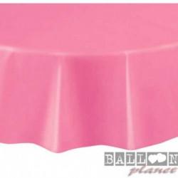 Tovaglia Plastica Tonda Rosa Hot 205 cm