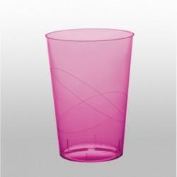 10 Bicchieri Plastica Rosa Hot 230 ml