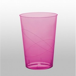 10 Bicchieri Plastica Rosa Hot 230 ml