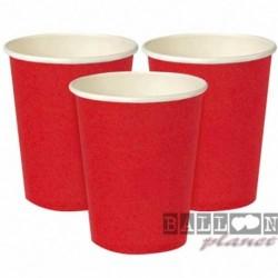 14 Bicchieri Carta Rossi 266 ml