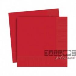 20 Tovaglioli Carta Rossi 25x25 cm
