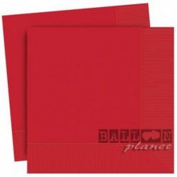 20 Tovaglioli Carta Rossi 33x33 cm