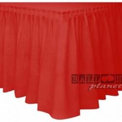 Gonna Plastica Rossa 74x420 cm