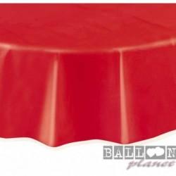 Tovaglia Plastica Tonda Rossa 205 cm
