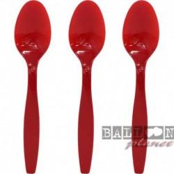 24 Cucchiai Plastica Rossi 18 cm