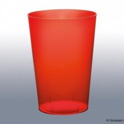 10 Bicchieri Plastica Rossi 230 ml