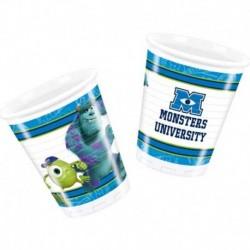 8 Bicchieri Plastica Monster University 200 ml