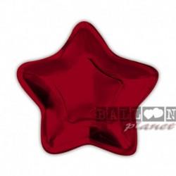 10 Piatti Carta Stella Rossa 24 cm