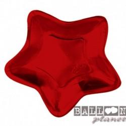 10 Piatti Carta Stella Rossa 32 cm